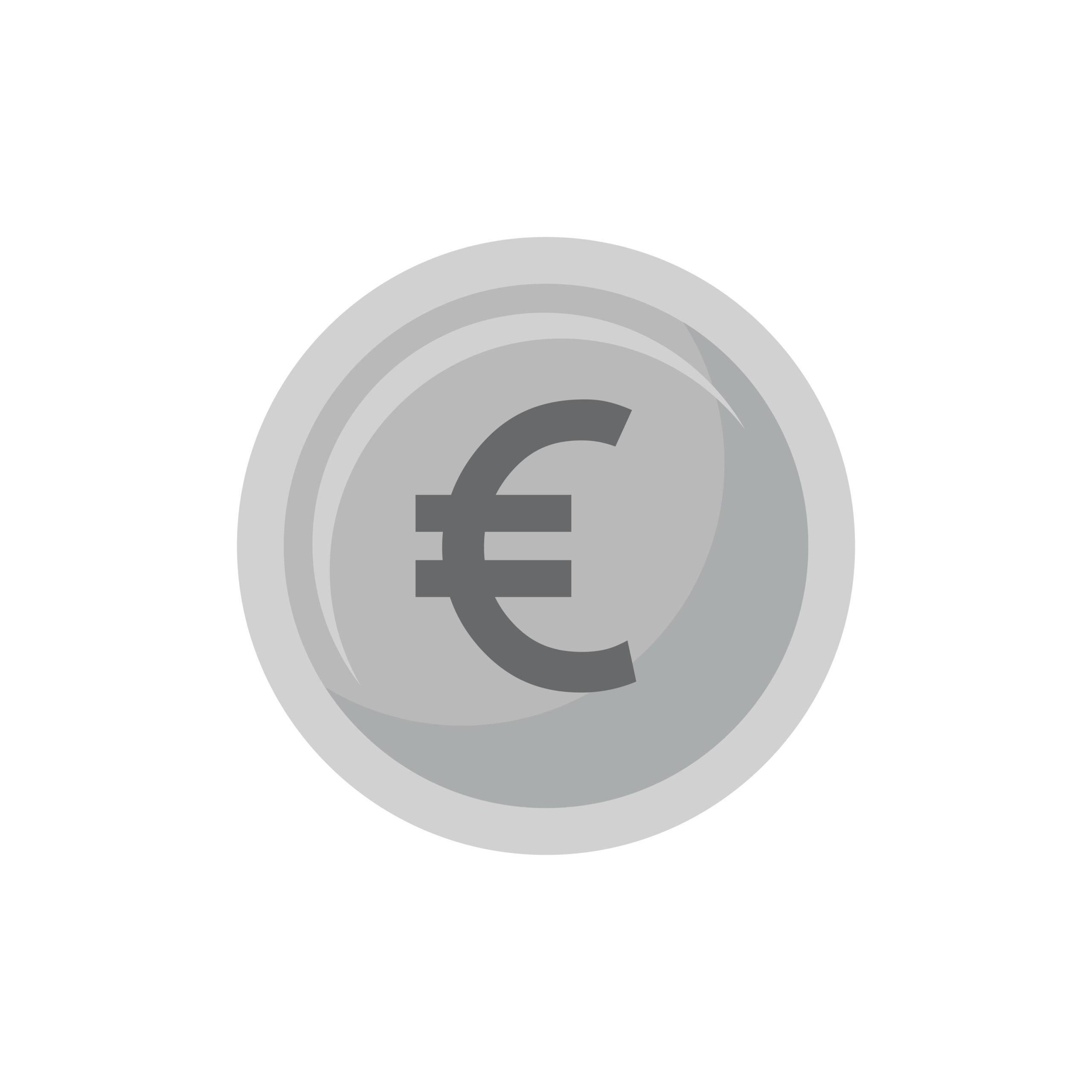 illustration vectorielle du symbole euro
